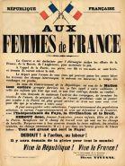 Appel Viviani Femmes Travail 1914
